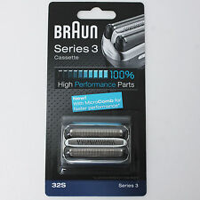 BRAUN Mens Shaver Cassette 32S Series 3 390cc 370 CruZer 5 6 Clean Shave Germany