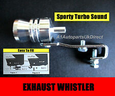 TURBO EXHAUST TAIL PIPE WHISTLER WHISTLE DUMP VALVE SOUND FITS RENAULT CLIO 172