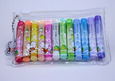 Pack 12 Cylindrical Erasers 12 Colors Lovely Bear Eraser
