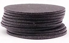 10 OVERSIZED BLACK FIBRE POOL BILLIARD CUE TIP PADS - BETWEEN TIP AND FERRULES