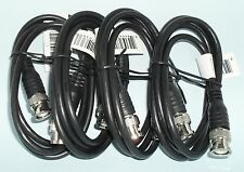 Lot of 4 3ft BNC to BNC Male RG58/U 50 Ohm Coax Cables