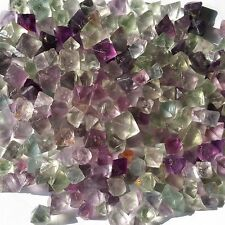 100g 40-60pcs Natural Fluorite Crystal rough Octahedrons Rock Specimen China