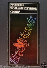 1982 Buick Skyhawk Paint Chip Colors Brochure Excellent Original 82