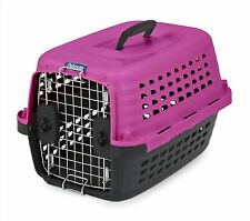 Petmate Compass Plastic Pets Dog Kennel HOT PINK W/BLACK BASE CHROME DOOR
