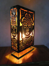 Balinese Design Metal Carving Buddha Feature Lamp