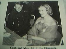 ephemera 1961 leicester regimental ball capt j le flemming