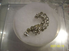 Brooch Antique Rhinestone Question Mark Tiered Designed Beautiful Clear