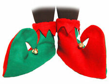 SANTA'S LITTLE HELPER ELF PIXIE BOOTS SHOES CHRISTMAS FANCY DRESS COSTUME