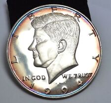 1994 GIANT SILVER KENNEDY HALF DOLLAR PROOF 1/2  POUND 8 OZ.999 FINE SILVER
