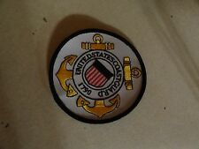 MILITARY US PATCH HOOK AND LOOP BACK UNITED STATES COAST GUARD 3 1/2 INCHES
