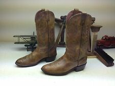 ACME DISTRESSED BROWN  LEATHER WORK CHORE TRUCKER ENGINEER BOOTS SIZE 9 D