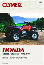 1998-2004 Honda TRX450 TRX 450 Foreman ATV Quad CLYMER REPAIR MANUAL