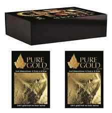 30 x 24K Gold Leaf Sheets. Art Crafts Design Gilding Framing Scrap. in gift box