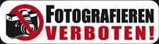 (303735) 3D / ÉPOXY étiquette - Faire des photos interdit - Taille 9 x 2,5 cm