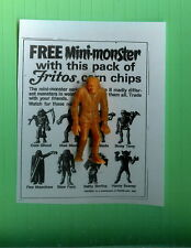 """VINTAGE MPC MONSTER   FRANKENSTEIN """"SLEW FOOT""""  FRITOS+COPY OF AD"""
