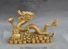 china brass fengshui Auspicious wealth Zodiac Year animal dragon feilong statue