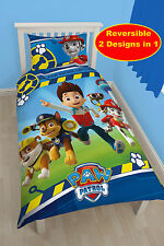 NEW PAW PATROL RESCUE SINGLE DUVET QUILT COVER SET KIDS BEDROOM BOYS BED BEDDING