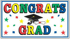 CONGRATS GRAD wall sticker 1 BIG party decal graduate diploma graduation hat
