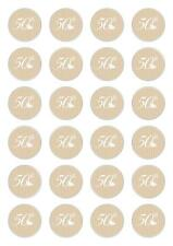 24 50th Wedding Anniversary  Cupcake Fairy Cake Toppers Edible Wafer Paper