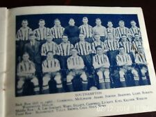 southampton & swansea team groups 1934 b+w with line-ups 9cm by 6cm original
