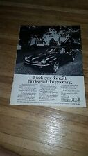 """1972 Triumph GT-6 Vintage Magazine Ad """"It feels great doing 70."""""""