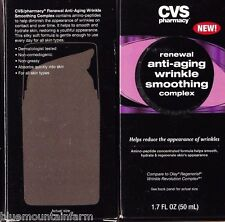 Lot 2 CVS Renewal AntiAging Wrinkle Smoothing Complex Reduce appearance wrinkles