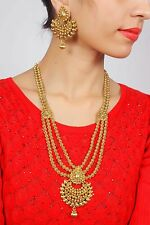 1932 Indian Jewelry Necklace Earrings Polki Ethnic Gold Plated Bollywood Earring