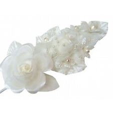 3 Ivory Silk Satin Pearl Corsage & roses & cala lilies
