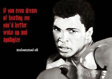 Muhammad Ali Boxing wall Poster Print A4 260gsm