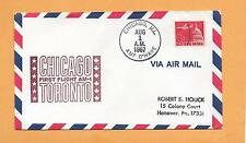 FIRST FLIGHT AM-1 CHICAGO -TORONTO AUG 1,1967 O HARE