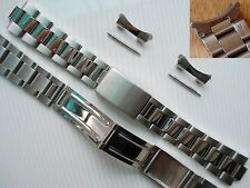 20mm Polished Center Oyster Bracelet Band For Mens Rolex Air-King Explorer Watch