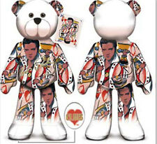 "Limited Treasures Elvis Presley #05 Collectible 9"" Plush Bear- King of Hearts"