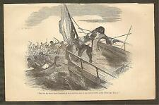 VINTAGE ILLUSTRATION - FURTHER ADVENTURES ROBINSON CRUSOE - THE DEATH OF FRIDAY