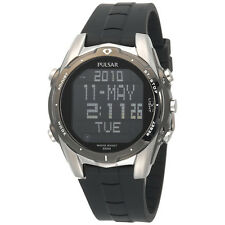 Pulsar PQ2003 Digital Mens World Time Alarm Chronograph Black Dial Quartz Watch