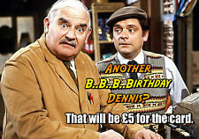 Open All Hours - Ronnie Barker PERSONALISED Happy Birthday Spoof Greeting Card