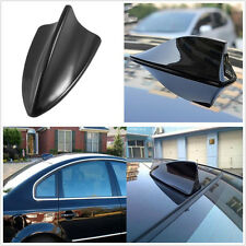 ABS Plastic Black Autos Shark Fin Antenna Aerial Signal AM FM Radio For BMW Ford
