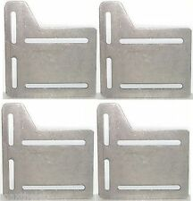 "5"" Bed Rail Frame Headboard Modification Adapter Steel Plates (4) USA Made"