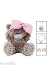 Tatty Teddy peluche Bear & bijoux ensemble collier bracelet boucles d'oreilles g01g0321