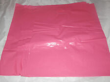 50 12x15 Glossy Pink Low-Density Plastic Merchandise Bags WHandles Retail Bags