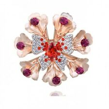 GORGEOUS 18K GOLD PLATED AND GENUINE SWAROVSKI CRYSTAL AND CZ BUTTERFLY BROOCH