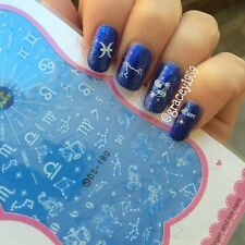 1 Sheet Nail Art Water Transfers Decals Stickers Constellations Numbers Pattern