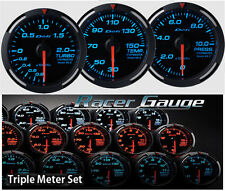 DEFI Racer Gauge Triple Gauge Set 52mm Blue (Boost/Temp/Press)