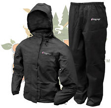 Frogg Toggs BLACK Women's All Purpose Rain Suit Gear Wear Jacket & Pants Size: S