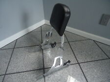 06+ HARLEY DYNA quick release BACK REST SISSYBAR WIDE GLIDE STREET BOB LOW RIDER