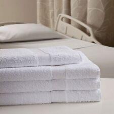 12 NEW 100% COTTON  20X40 WHITE HOTEL MOTEL VENICE BATH TOWELS HEALTHCARE 10/S *
