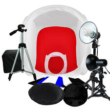 "Lusana Studio 30"",12"" Photography Tent Light Backdrop Kit In A Box Cube Lighting"