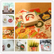 38pcs Paper Christmas Sticker Decor Diary Posted Sealing Paste Gift Xmas Series