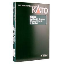 Kato 106-8011 N Scale Amfleet I Phase I 4-Car Bookcase Set Rolling Stock