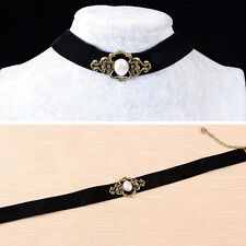 Vintage Black Velvet Retro Choker Collar Bib Necklace Charm Pendant Jewelry
