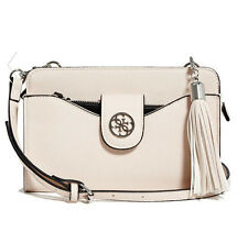 NWT GUESS Lacy multi organizer Crossbody Handbag Purse Off white Nude
